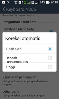 Cara Mudah Mematikan Auto Correct dan sugges Di Android