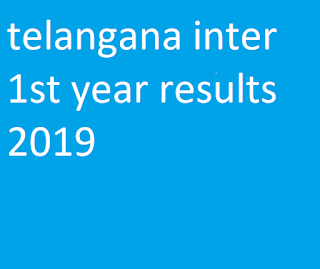 telangana inter 1st year results 2019