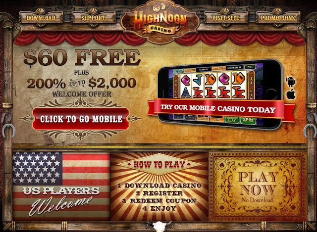 High Noon Casino Mobile Bonus Deals