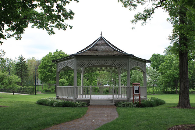 Gazebo at the park Village Green Northbrook