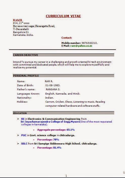 ccna fresher resume sample free download