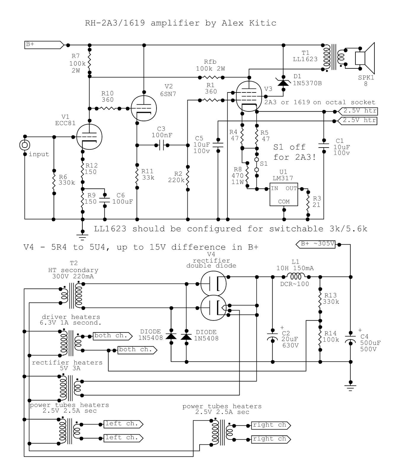 6a3 Amplifier Schematics - Wiring Diagram Set