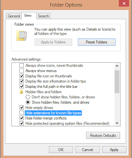 Windows File and Folder Options