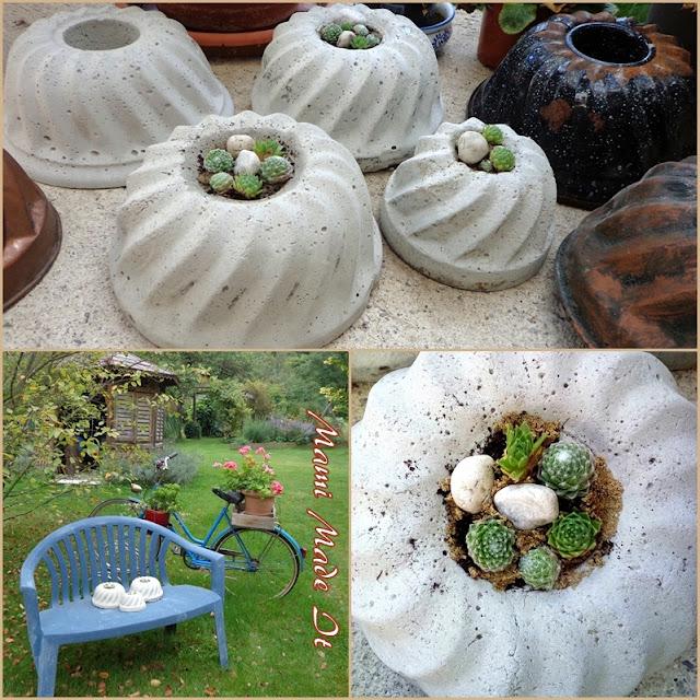 Bepflanzte Betonkuchen - Planted Concrete Cakes