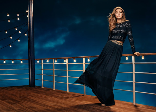 Gigi Hadid sparkles for the Tommy Hilfiger Holiday Campaign 2016