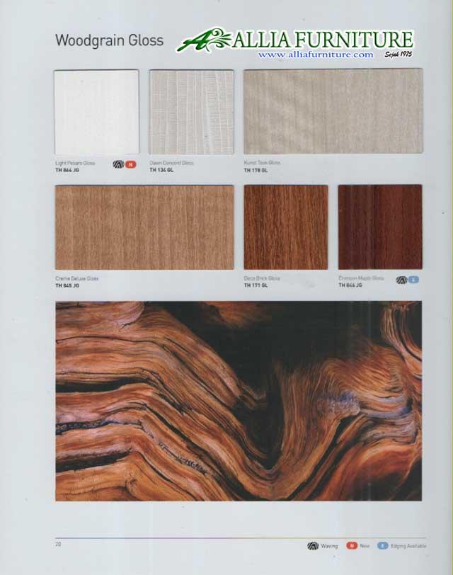 Hpl taco motif kayu gloss 21