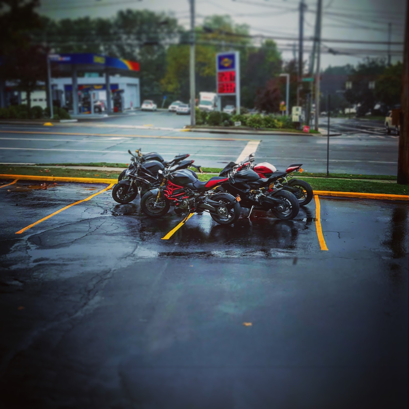 Huntington, Long Island in the Rain