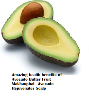 Amazing health benefits of Avocado Butter Fruit Makhanphal - Avocado Rejuvenates Scalp