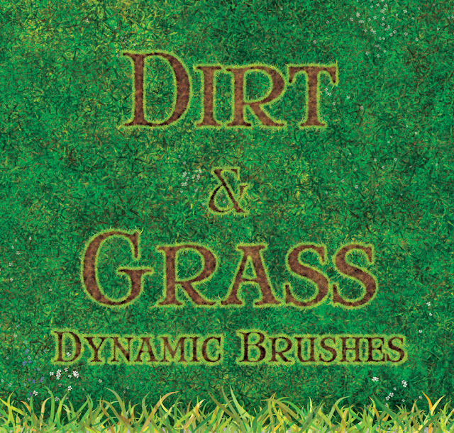 40 excelentes Pinceles grass para photoshop