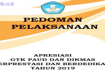 Buku Pedoman Pelaksanaan Apresiasi GTK  PAUD dan Dikmas Berprestasi dan  Berdedikasi Tahun 2019