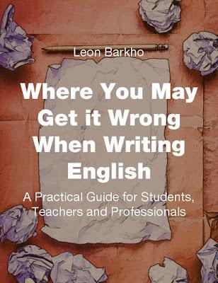 كتاب أين يمكن أن يحصل  الخطأ عند الكتابة باللغة الإنجليزية