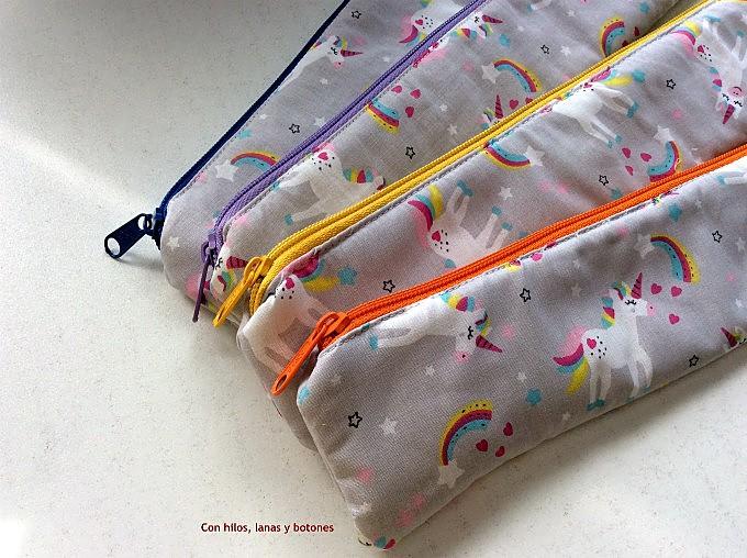 Con hilos, lanas y botones: Estuches para flauta