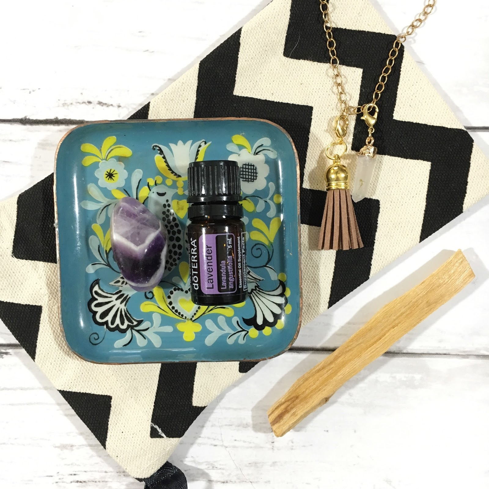 Amethyst Crystal with Doterra Lavender