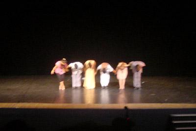 apresentação no teatro- primeiro ano