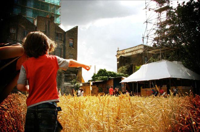 Vista del Wheatfield de Londres