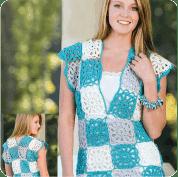 Vestido Ajedrez a Crochet