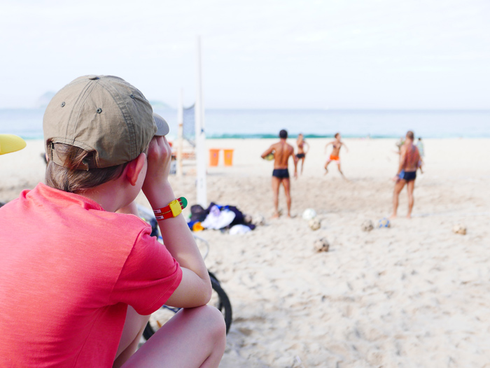 Brazil with kids - Copacabana beach