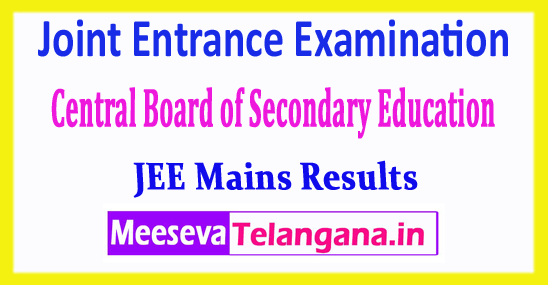 JEE Main Joint Entrance Examination Central Board Results 2018 Download