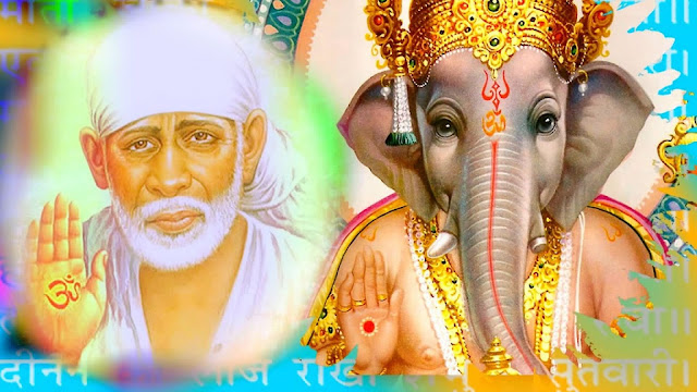 Lord Ganesha With Sai Baba Wallpaper