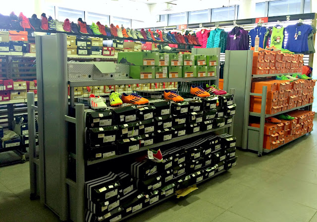 First floor of the Sports Box Factory Outlet in Shuwaikh, Kuwait