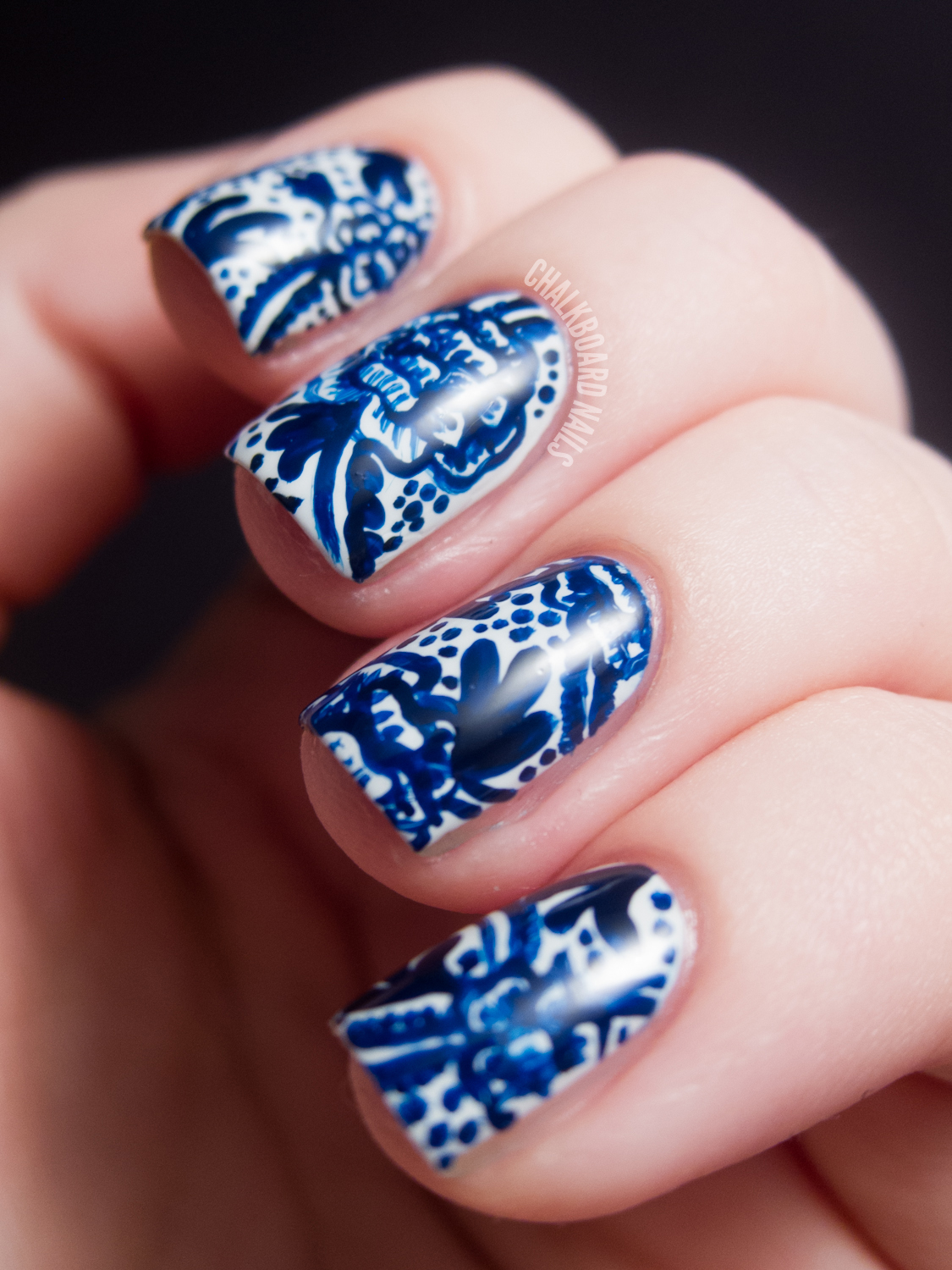31DC2012: Day 05, Blue Nails