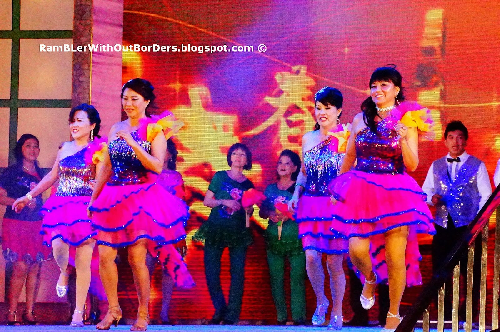 Stage dance performnce, River Hongbao, Singapore