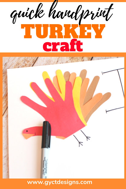 Help your family and friends show gratitude this Thanksgiving by making this simple Thankful chart.  Plus, add a fun handprint turkey craft to make this gratitude activity fun and festive.