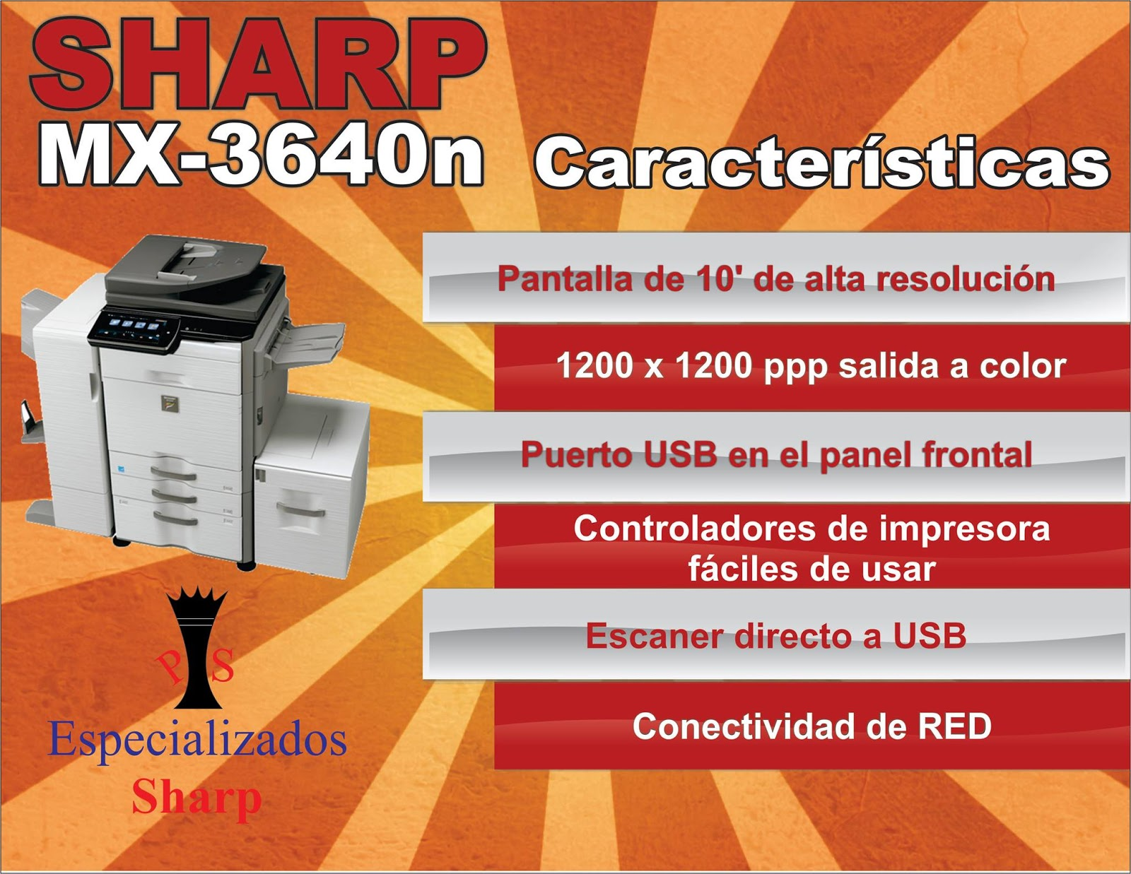 Mercado Libre Copiadoras Copiadora Sharp Mx3640 Impresora Escaner 39 999 00 En