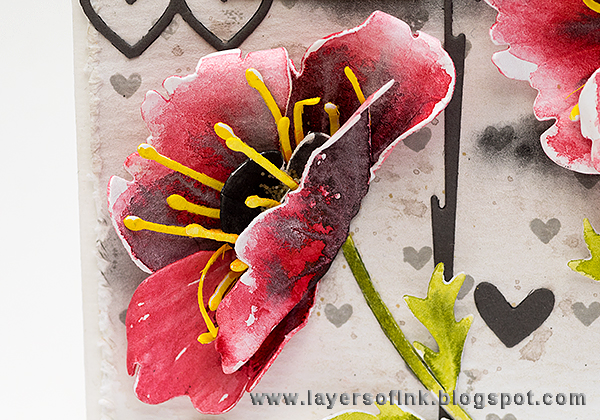 Layers of ink - Watercolour Poppies Tutorial by Anna-Karin