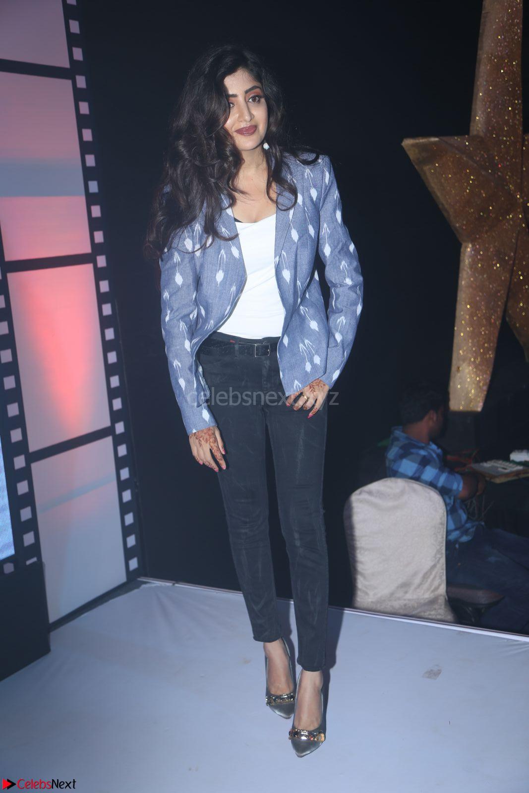 Poonam Kaur looks super cute in Denim at Nakshatram music launch