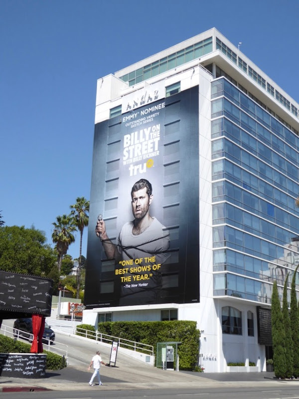 Billy on the Street Emmy nominee billboard