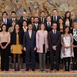 Audiencia a la Junta de Gobierno (actual y anterior) del COEM en el Palacio de La Zarzuela [Dentistas I Región]