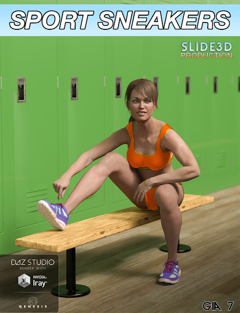 Slide3D Sport Sneakers for Genesis 3 Female