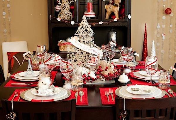 Dekorasi Meja Makan Untuk Natal dengan Tema Vintage