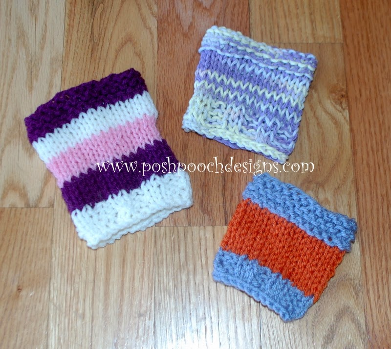 Posh Pooch Designs Dog Clothes: Quick To Stitch Knit Coffee Cozy - Free Knitt...