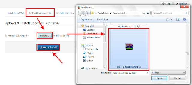 install plugin to joomla