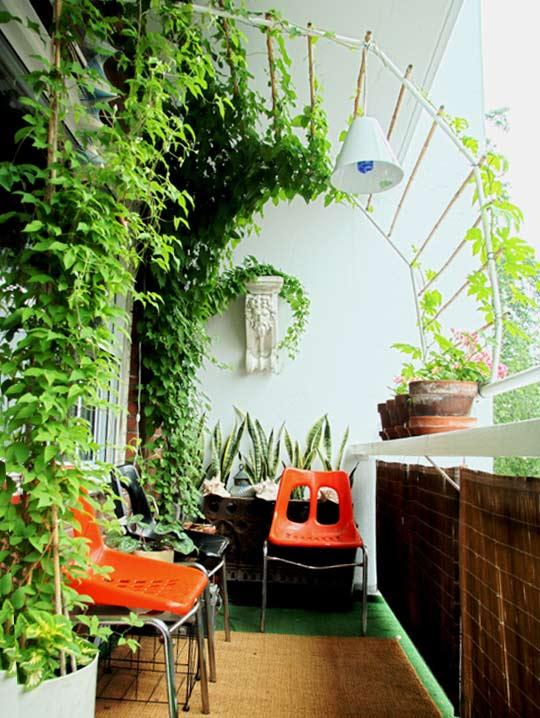 jardin balcón
