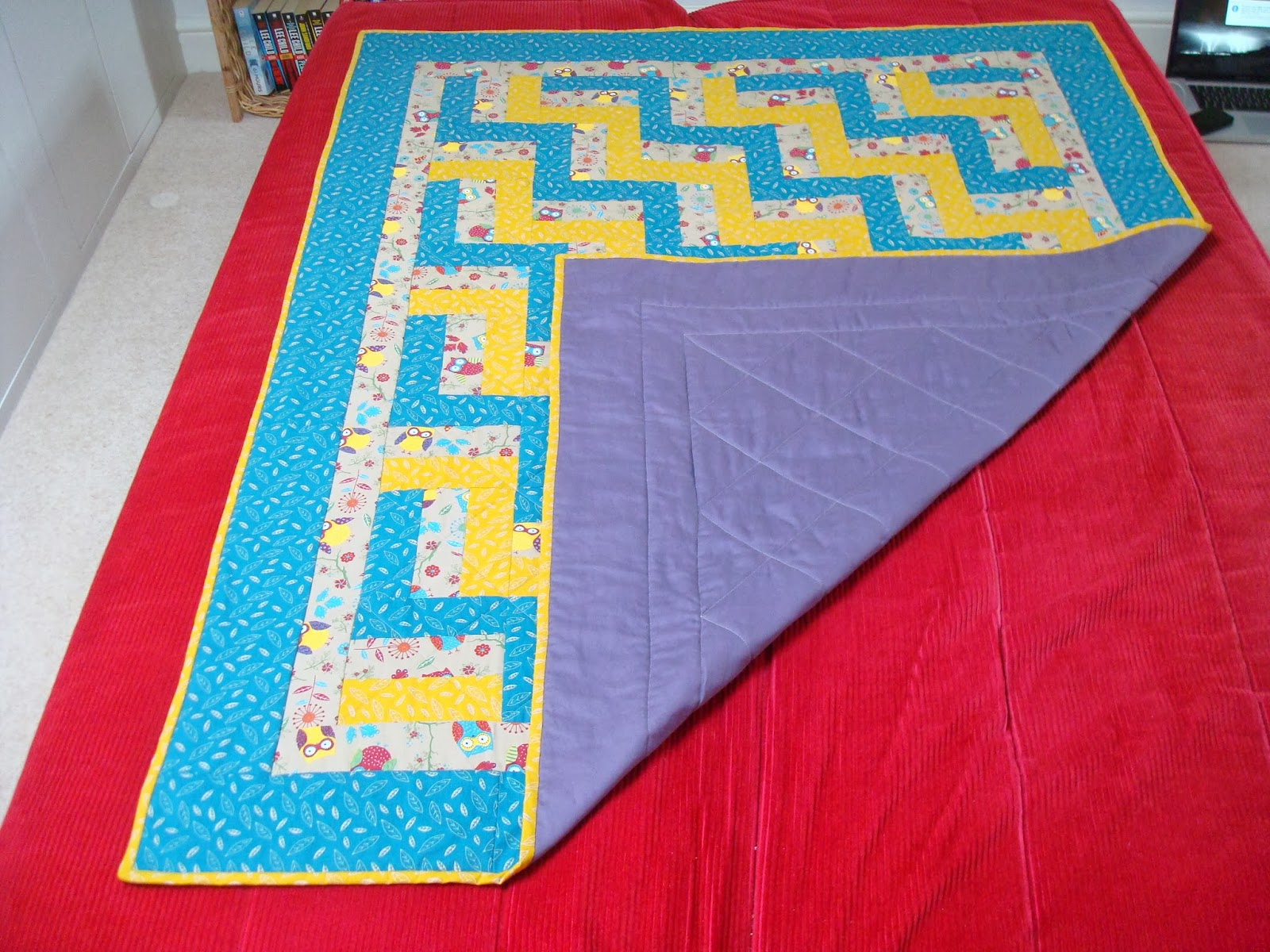 Oil and Thread: Fence Rail Baby Quilt