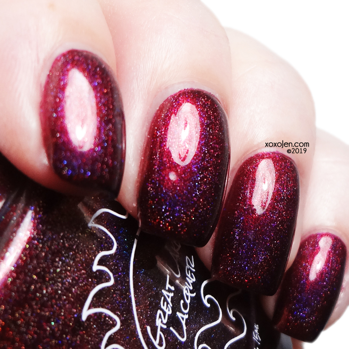 xoxoJen's swatch of Great Lakes Lacquer Like This Red