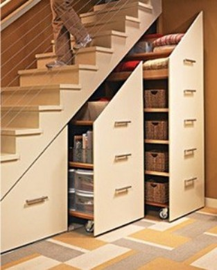 Barquitec almacenaje bajo la escalera for Mueble escalera ikea