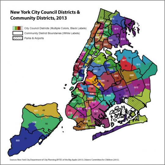 Nyc Council District Map