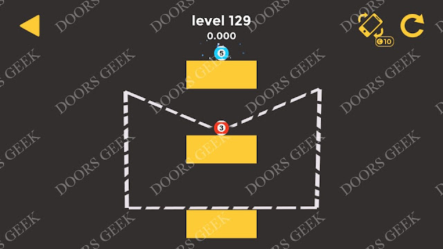 Ball & Ball Level 129 Solution, Walkthrough, Cheats for android and ios