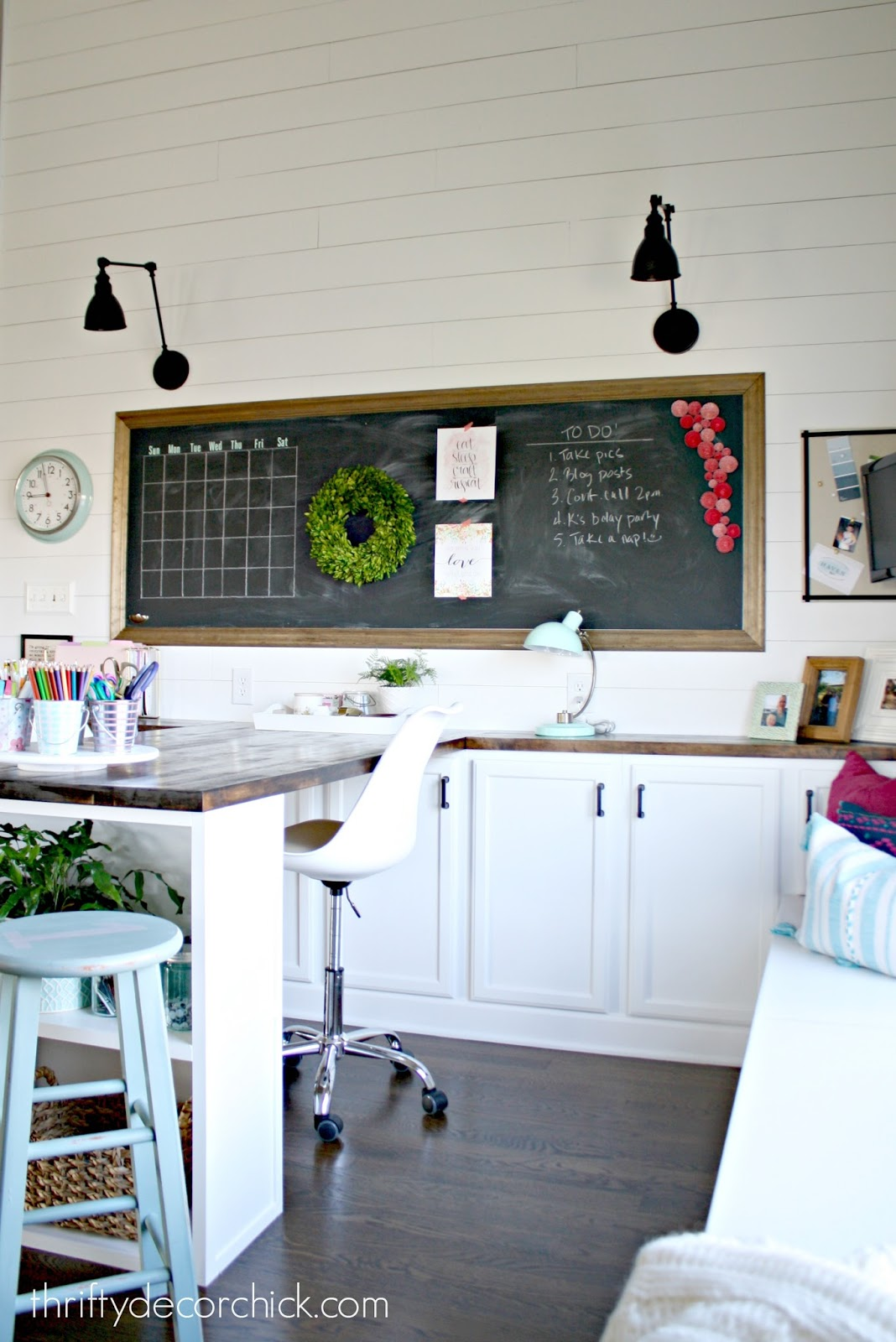 Our craft room, office, hang out space, wrapping station REVEAL ...