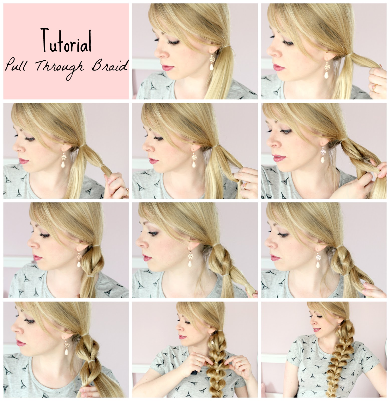 Tutorial Pull Through Braid Einfach Ohne Flechten Blush Affair