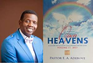Open Heavens 3 September 2017: Sunday daily devotional by Pastor Adeboye – Divine Order
