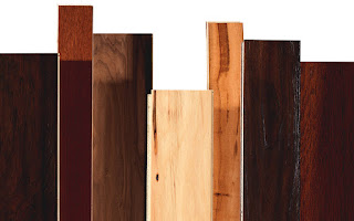 samples of different hardwood stains