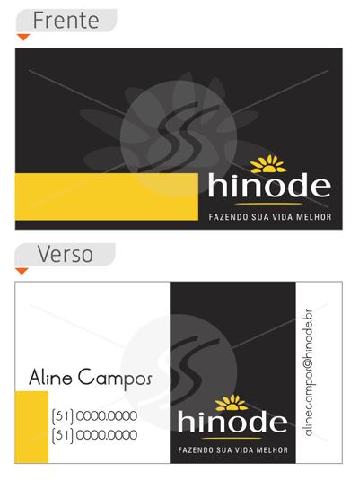 cartao de visita hinode frente verso - Cartões de Visita Hinode