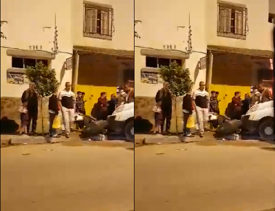 حادث مرور خطير في إصطدام سيارة سياحية بدراجة نارية بحي الشارة