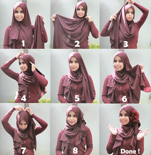Tutorial Hijab Paling Hits 2015