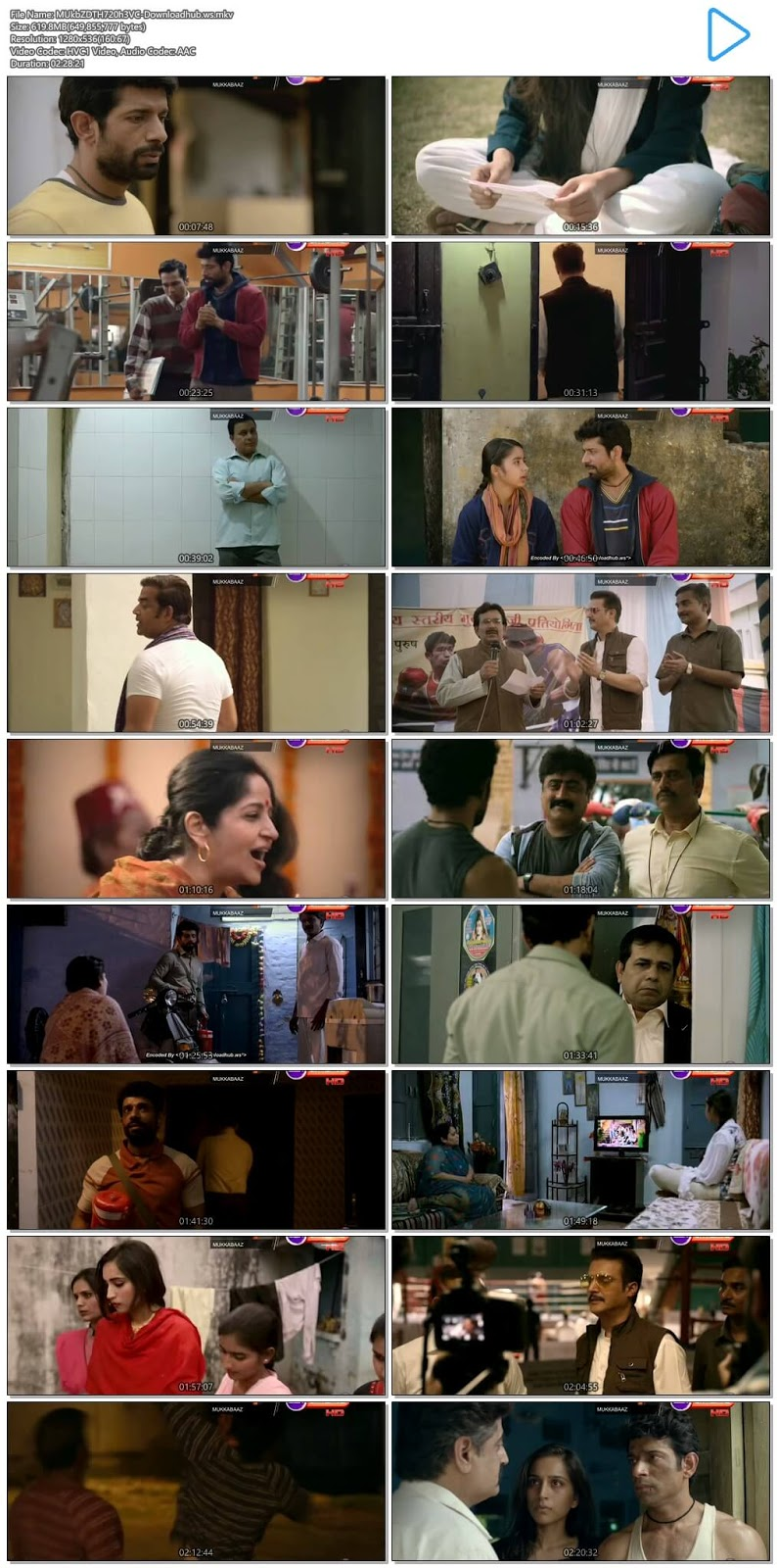 Mukkabaaz 2017 Hindi 720p HEVC DTHRip